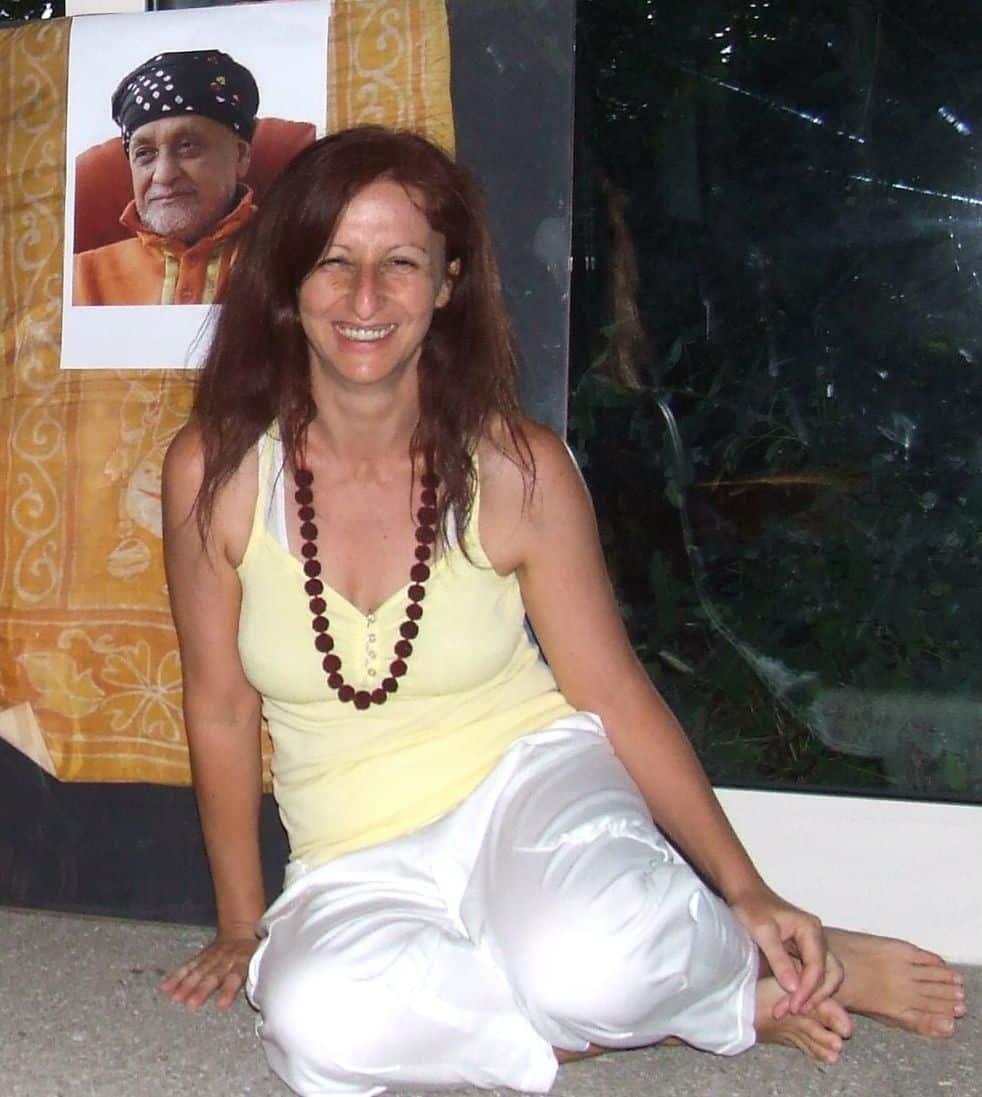 Anna de Toni with Guru